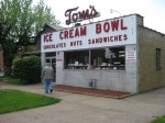 Tom's Ice Cream Bowl in Zanesville is a must for tourists
