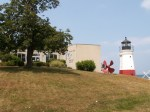 Inland Seas Museum in Vermilion with replica Lighthouse overlooking Lake Erie