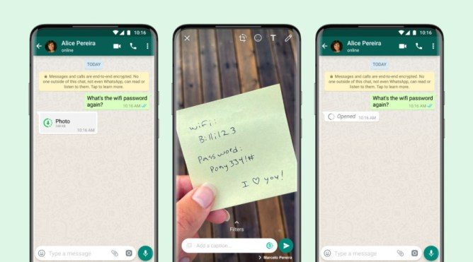 WhatsApp: View Once feature