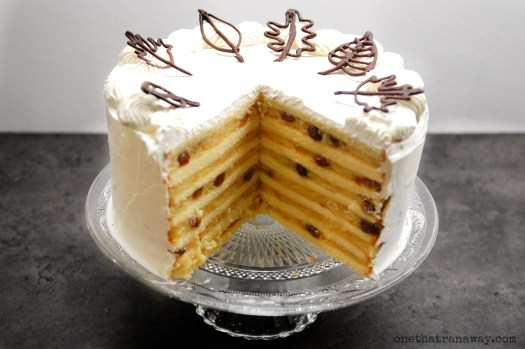 layered autumn apple cake
