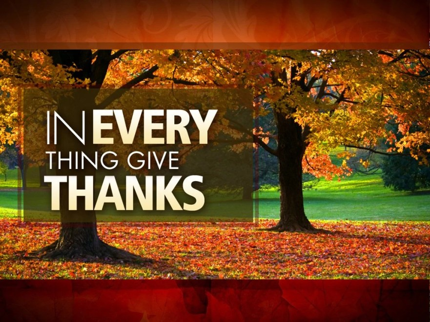 Thanksgiving | Gratitude | Missing