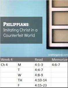 Phil 4 Reading Schedule