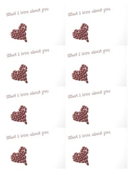 what I love about you | free printable