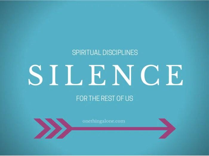 Spiritual Disciplines (1)