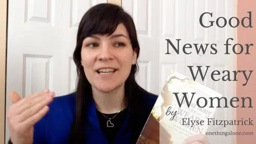 If you find yourself exhausted trying to keep up with your to-do list, get a copy of Good News for Weary Women
