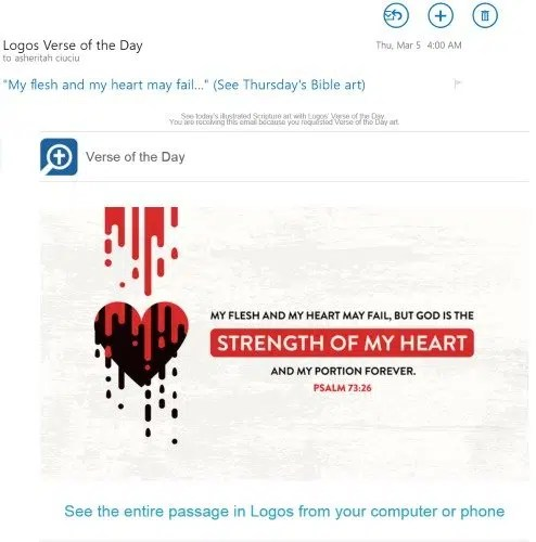 bible verse of the day logos
