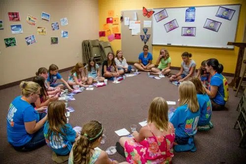 VBS girls in circle