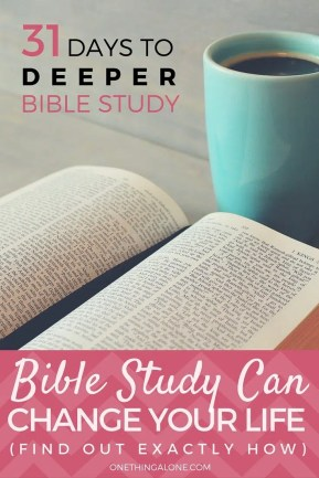 Bible Study CAN Change Your Life