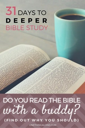 I used to read the Bible by myself, and then I found this and realized that reading with a buddy really DOES make a difference!