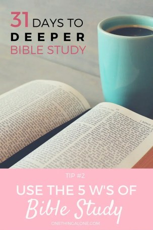 Use the 5 W's to understand your Bible text's background