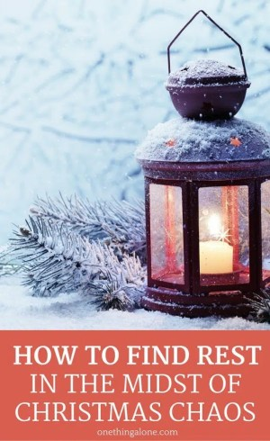 Here's how to find pockets of quiet in the holiday mayhem to find rest in Jesus.