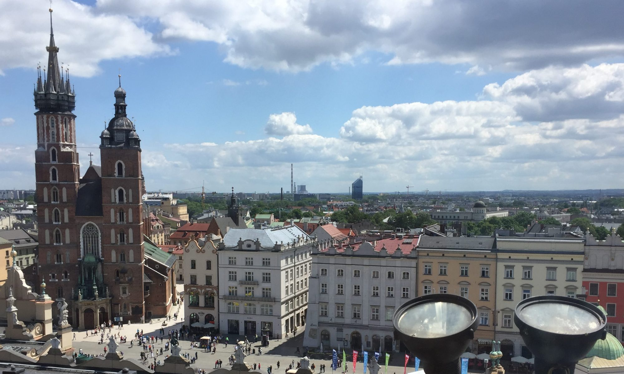poland photo diary krakow old town square view from town hall tower
