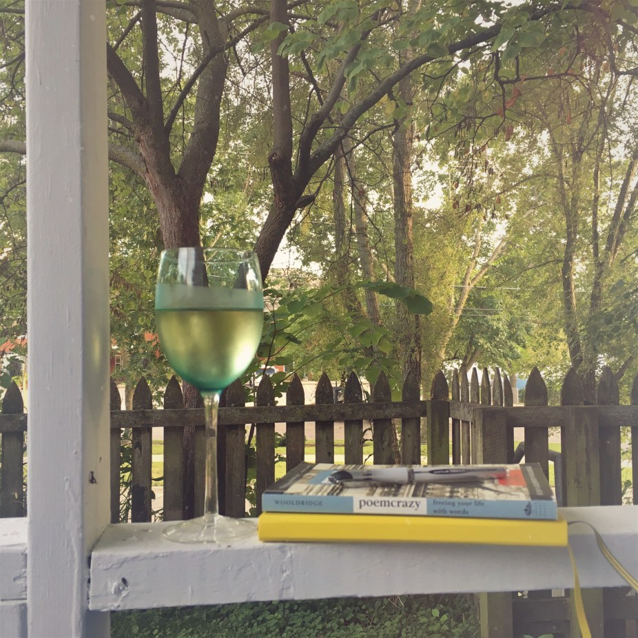 A glass of wine, the sound of crickets, the setting sun. Perfection.