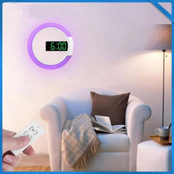 3D LED wall clock Digital Table Clock Alarm Mirror Hollow Wall Clock Modern Design Nightlight For Home Living Room Decorations