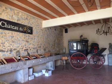 cellar of the chateau du roc