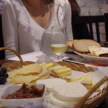 cheese table and wine