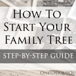 How To Start Your Family Tree
