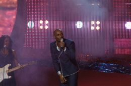 Andy Abraham at Eurovision for the UK in 2008