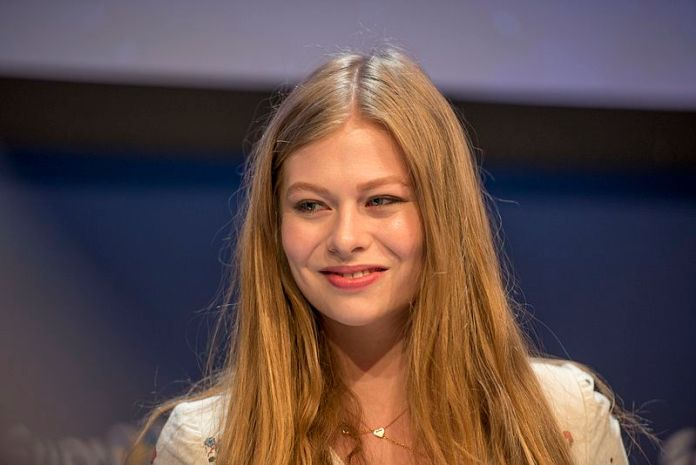 Zoë at a Meet & Greet during the Eurovision Song Contest 2016 in Stockholm.