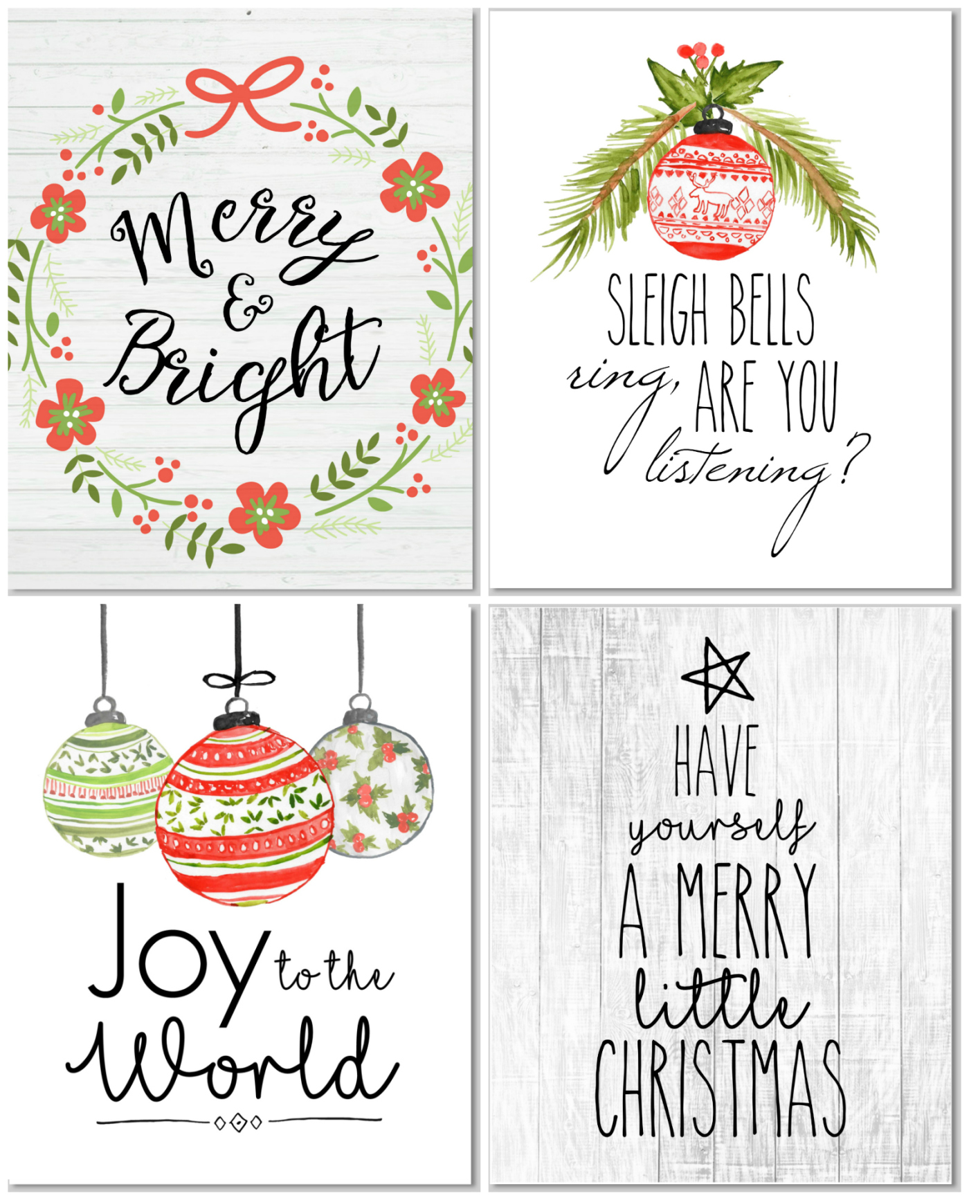 Christmas Farmhouse Decor Your Thing Print These For Free For Project Life December Daily