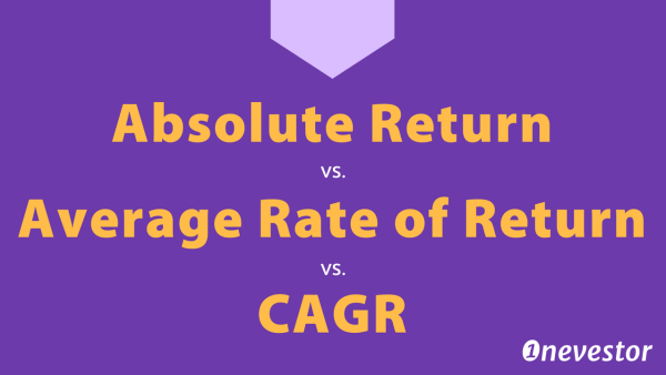 Absolute Return vs. Average Rate of Return vs. CAGR