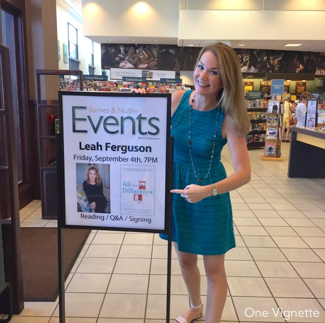 9.1.16. Book Birthday. Leah with sign