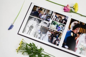Purple Florentine wedding album