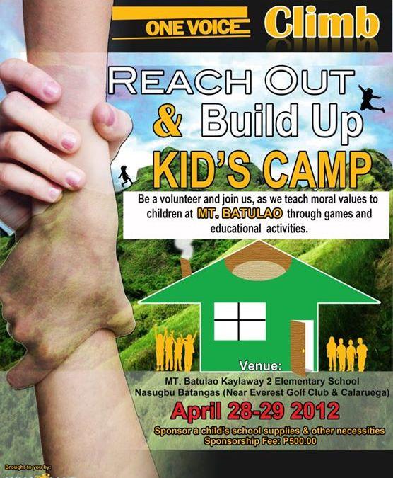 Aim High, Reach out and Build Camp – Mt. Batulao Outreach