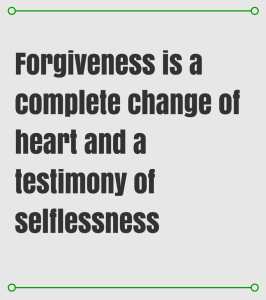 In forgiving the Church
