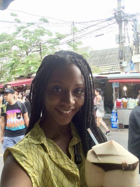 coconut water, juice, market