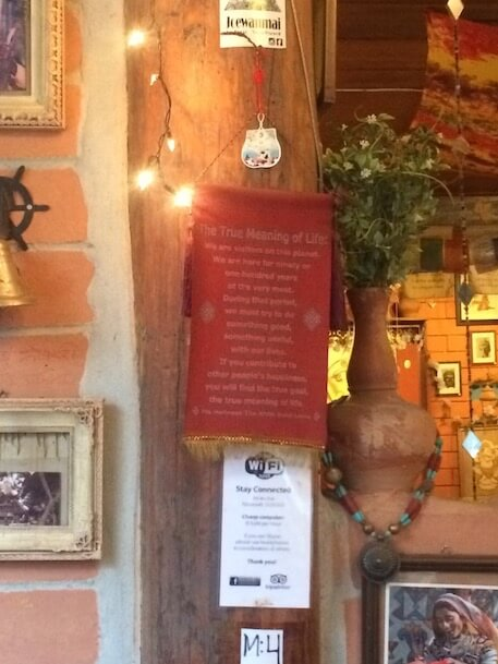 Pai Thailand cafe quote true meaning of life