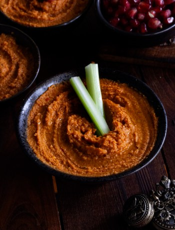 Roasted Bell Pepper Chickpea Hummus by OneWholesomeMeal