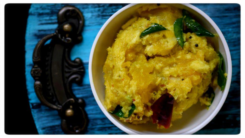 Kerala Style Pumpkin Stir Fry (Mathanga Eriserry)