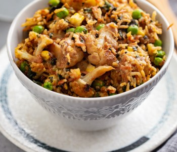 Cheese Rice with vegetables
