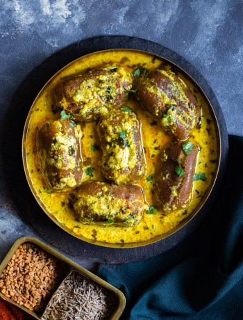 Paneer Stuffed Dumpling Curry