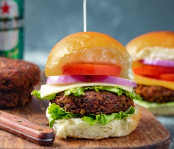 Vegan Beetroot & Tofu Burger