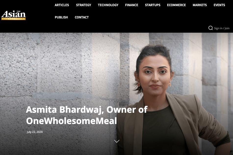 Asmita's interview on Asian Entrepreneur