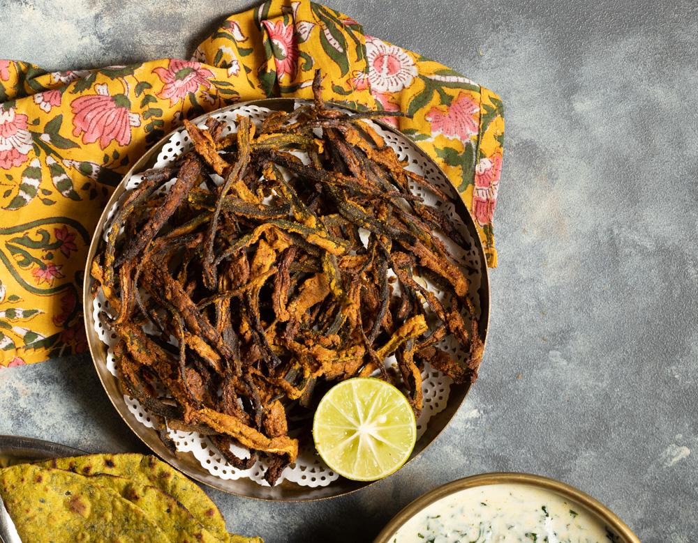 Kurkuri Bhindi-Easy Oven Baked Recipe