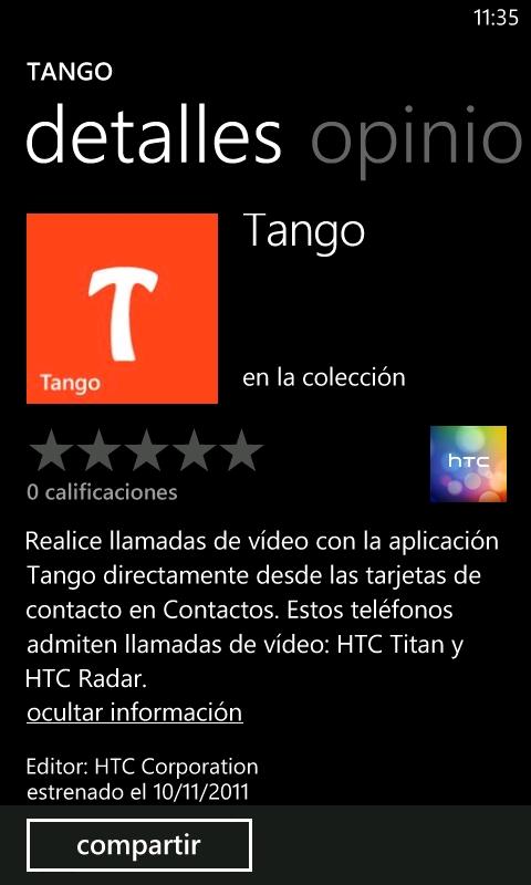 Tango para HTC