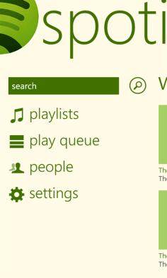 spotify para Windows Phone Captura 1