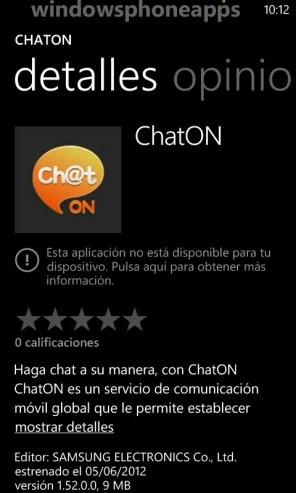 chaton Windows phone
