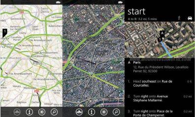 Capturas de Nokia Maps en Windows Phone 8