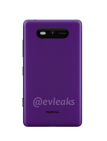Trasera del Nokia Lumia 820
