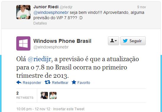 tweet WP Brasil