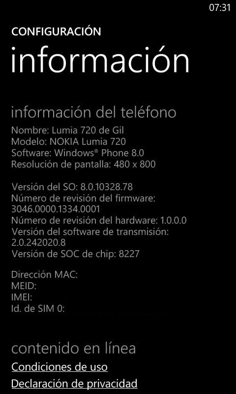 Nokia Lumia 720 -Amber