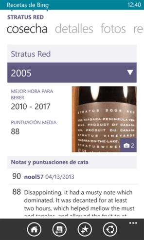 Recetas de Bing Beta 5