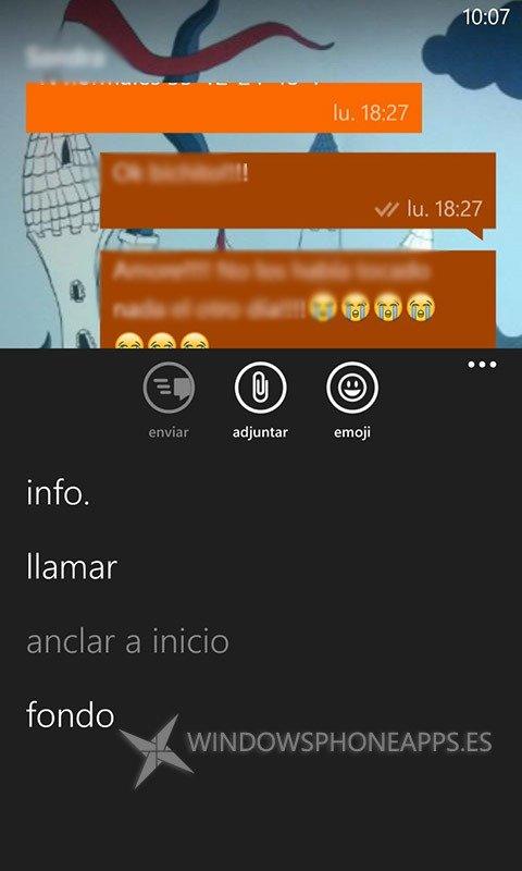 Fondo Chat WhatsApp Beta