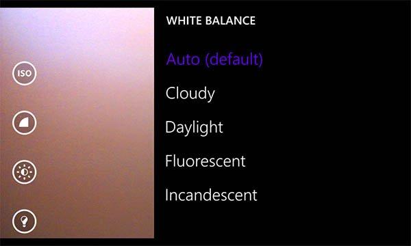 camara windows phone 8.1 -balance blancos