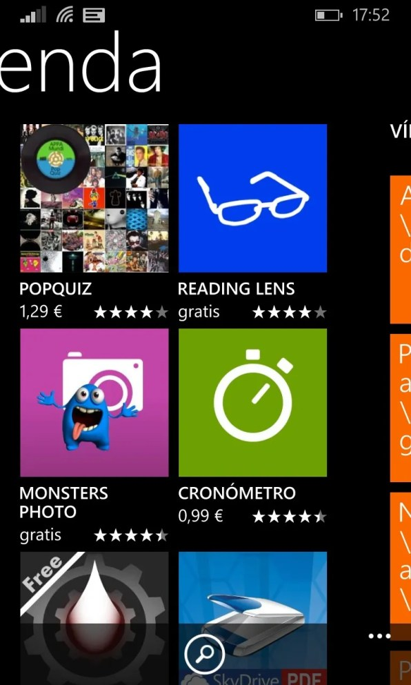 La Tienda de Windows Phone 8.1 de cerca