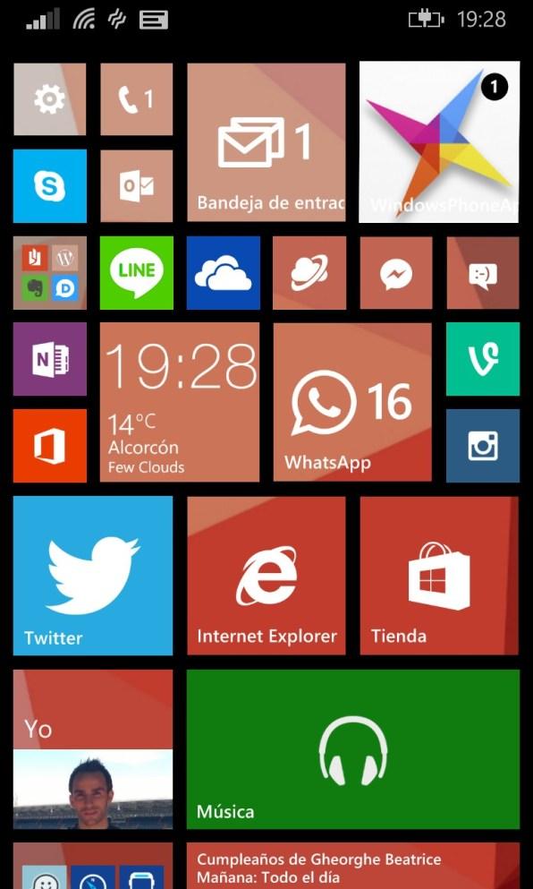 Como configurar la pantalla de inicio en Windows Phone 8.1